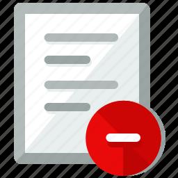 delete, document, file, files, page, remove icon