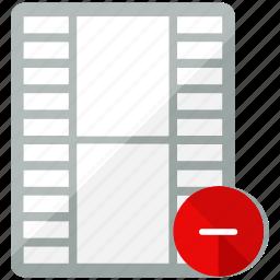 close, delete, media, multimedia, remove, video icon
