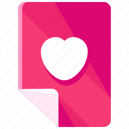 documents, favourite, files, heart, like, love icon