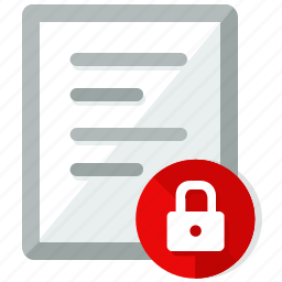 document, documents, file, files, lock, paper icon