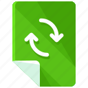 arrows, files, refresh, reload, sync, update icon
