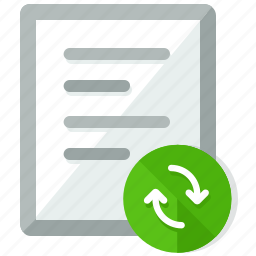 arrows, document, documents, file, files, refresh, sync icon