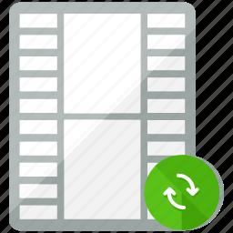 arrows, files, media, multimedia, refresh, video icon