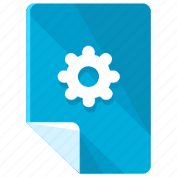 file, files, gear, options, preferences, settings icon
