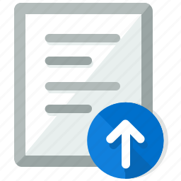 arrow, document, documents, file, upload icon