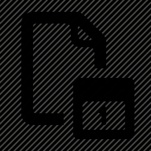 calendar, calendar file, date, document, file, watchkit icon