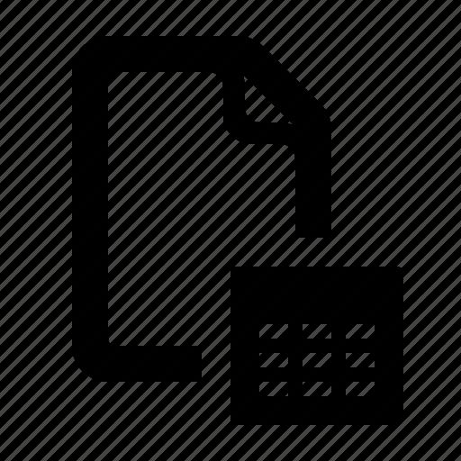 data, data file, database, document, file, tabular, watchkit icon