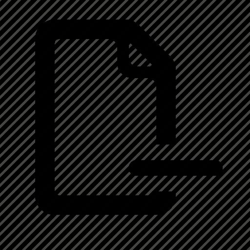 Delete, delete file, file, minus, remove, remove file, watchkit icon - Download on Iconfinder