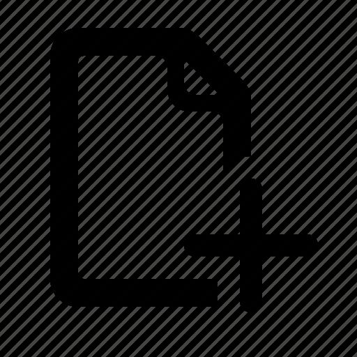 add file, document, file, file add, plus, watchkit icon