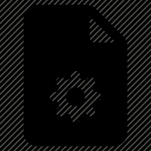 document, file, gear, options, settings, setup, yumminky icon