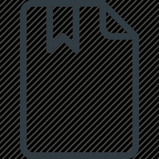 Bookmark, documen, file, paper icon - Download on Iconfinder