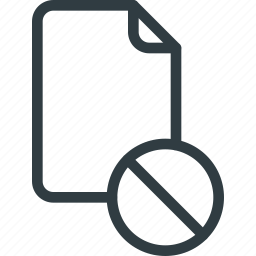 Disable, documen, file, paper icon - Download on Iconfinder