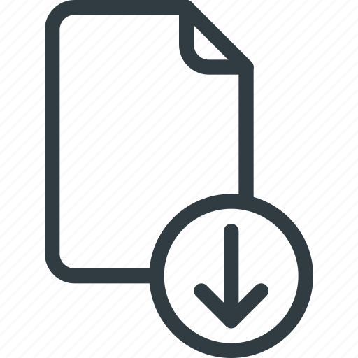 Documen, download, file, paper icon - Download on Iconfinder