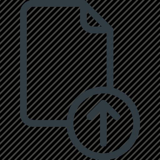 Documen, file, paper, upload icon - Download on Iconfinder