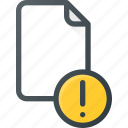 attention, documen, file, paper icon