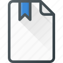 bookmark, documen, file, paper icon