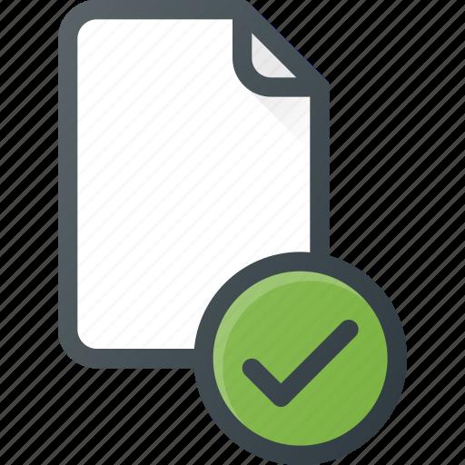 check, documen, file, mark, paper icon