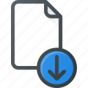 documen, download, file, paper icon
