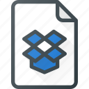 documen, dropbox, file, paper icon