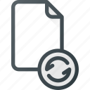 documen, file, paper, refresh, reload, syncronize icon