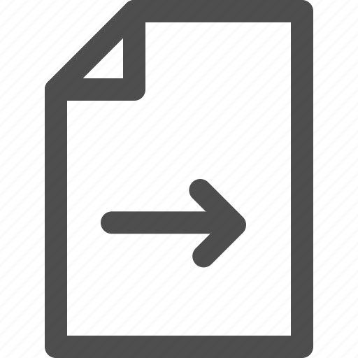 archive, arrow, document, file, filing, send, transfer icon