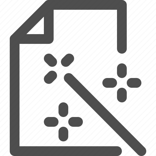 archive, document, edit, editing, file, interface, wand icon