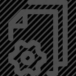cogwheel, file, fixing, gear, multiple, processing icon