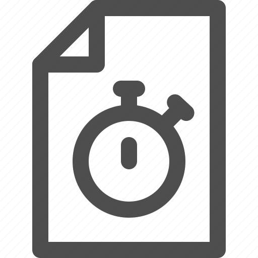 archive, deadline, document, file, stopwatch, time, timekeeper icon