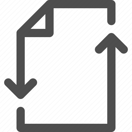 arrows, direction, document, file, storage, transfer icon