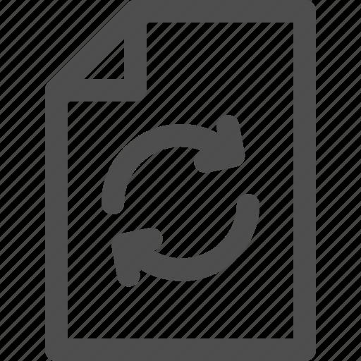 arrows, circular, data, document, file, interface icon