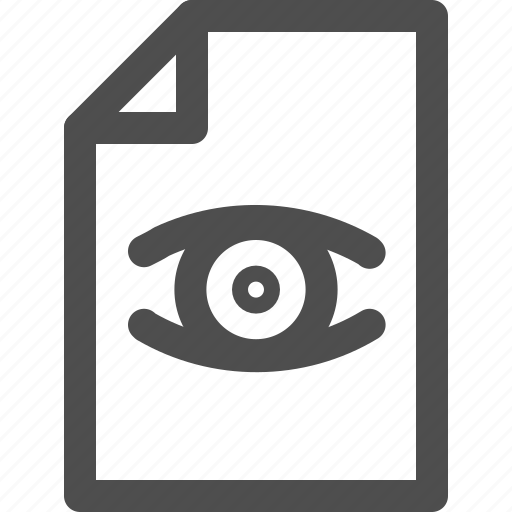 archive, document, edit, eye, file, interface, wiev icon
