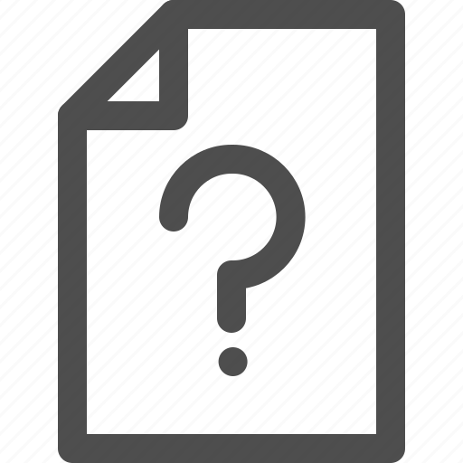 ask, document, file, interface, question icon