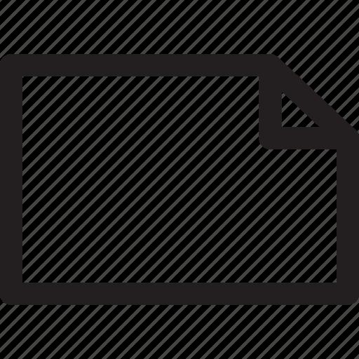 document, empty, file, page, plain icon