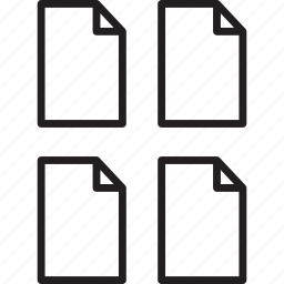 files, multiple icon