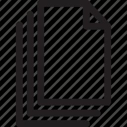copy, files, multiple, select icon