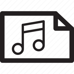 document, file, music, page icon