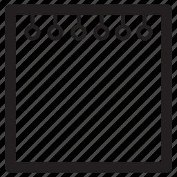 empty, file, note, plain icon
