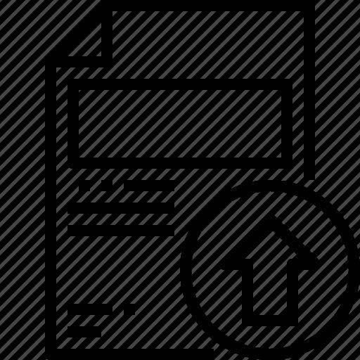 Document, file, filetype, folder, office, upload icon - Download on Iconfinder