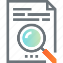 content, data, document, file, find, magnifier, search