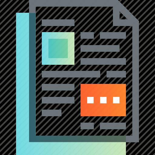 data, document, file, invoice, office, paper, report icon