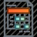 account, data, document, file, invoice, receipt, report