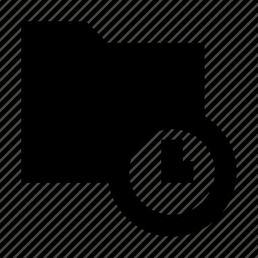 archive, folder, folder with clock, postponed document, task folder icon