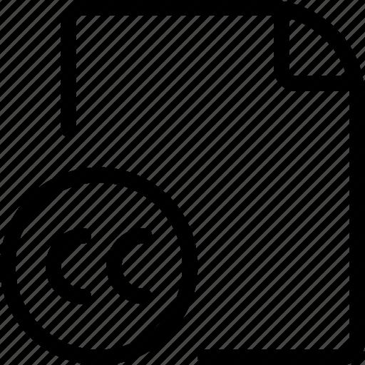 cc, copyright, file icon
