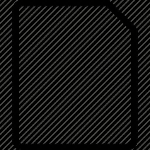 common, empty, file icon