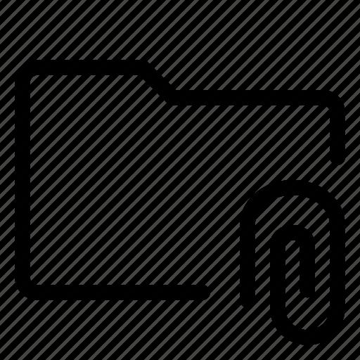 attachment, folder, state icon
