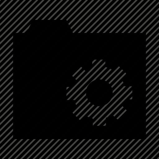cog, configuration, folder options, folder preferences, folder setting icon
