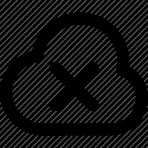 cloud, fail icon