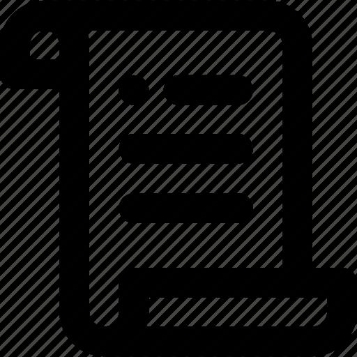 news, paper, script icon