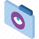 file, folder, iso, isometric, show icon