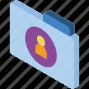 file, folder, iso, isometric, user icon